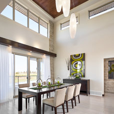 Contemporary Dining Room by Perry Signature Homes Inc.