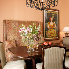 mediterranean dining room by McKinney Photography
