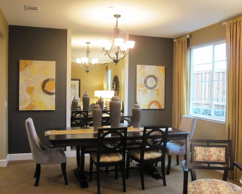 Example Of A Trendy Carpeted Dining Room Design In San Francisco Part 56