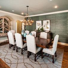 Transitional Dining Room by Stephanie Kratz Interiors
