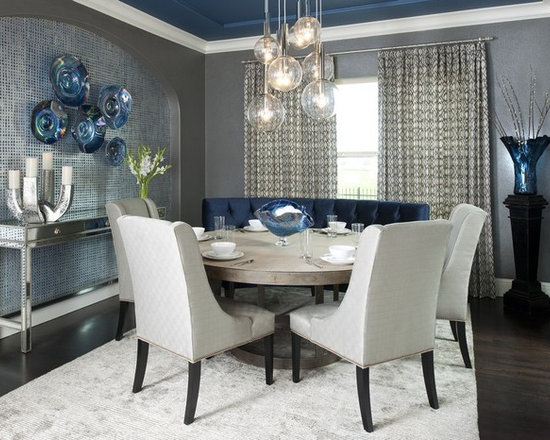 dark blue dining chair | houzz