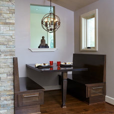 Contemporary Dining Room by Clark & Zook Architects, LLC