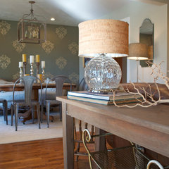 traditional dining room by Sarah Greenman