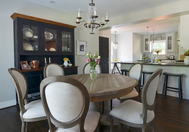 My houzz elegant updates for a traditional dallas house for Update traditional dining room