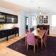 Transitional Dining Room by Von Fitz Design