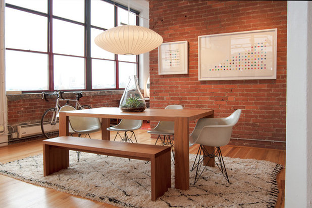 Industrial Dining Room by Adrienne DeRosa