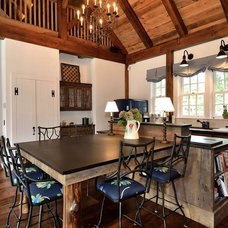 Farmhouse Dining Room by Blansfield Builders, Inc.