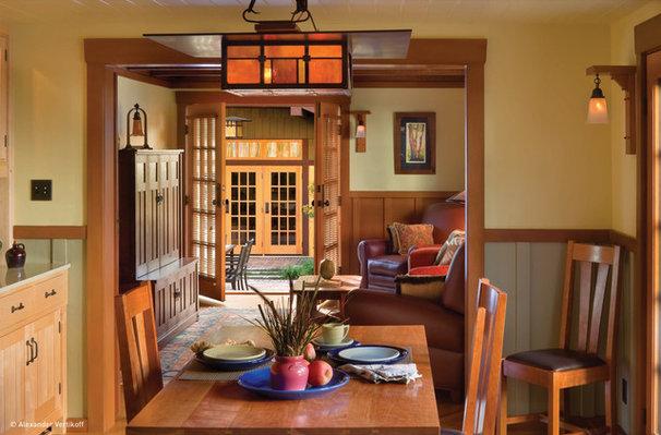Craftsman Dining Room by HartmanBaldwin Design/Build
