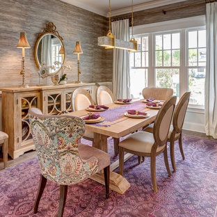 Dining room - eclectic dining room idea in Other with beige walls