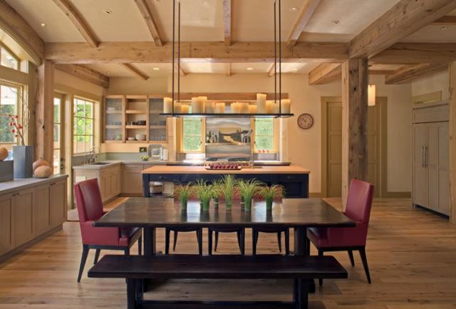 Contemporary Dining Room by David Ludwig - Architect