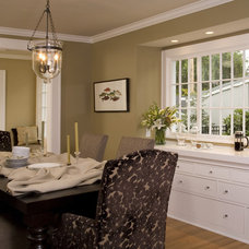 Traditional Dining Room by Kayron Brewer, CKD, CBD / Studio K B