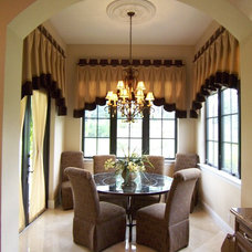 Traditional Dining Room by Drape Couture LLC