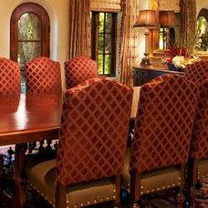 Mediterranean Dining Room by Debra Campbell Design