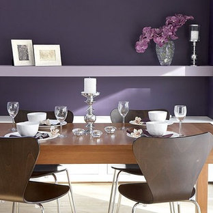 Photo of a modern dining room in Sussex.