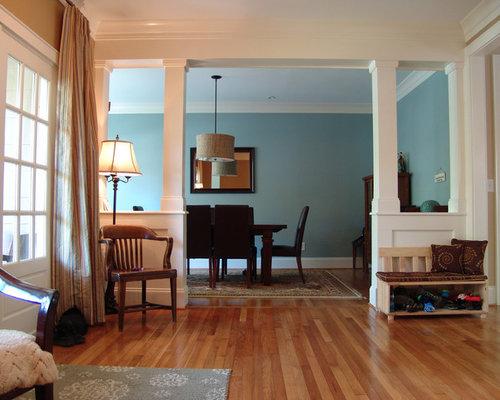 rustikale esszimmer mit blauer wandfarbe ideen design bilder houzz. Black Bedroom Furniture Sets. Home Design Ideas