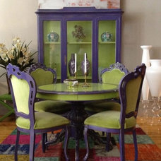 Eclectic Dining Room by Décor NYC Luxury Home Consignment Gallery