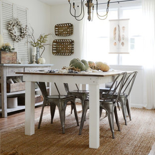 Dining room - shabby-chic style dining room idea in Boston