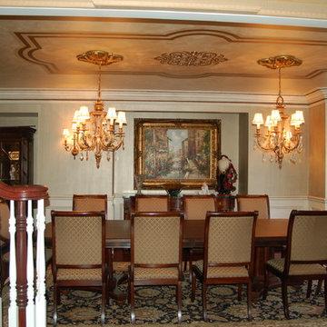 Decorative Metallic Plaster Ceiling with Swarovskis