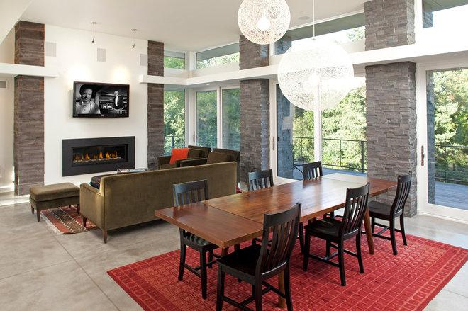 Contemporary Dining Room by John Kraemer & Sons