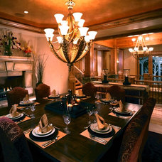 Traditional Dining Room by CD Construction, Inc.