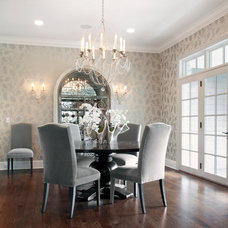 Transitional Dining Room by Red Rock Custom Homes, Inc.