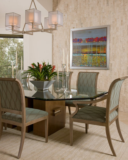 Contemporary Dining Room by Alpha Design Group