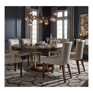 Inspiration for a modern dining room remodel in Charlotte
