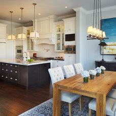 Tropical Dining Room by Architect Bruce Celenski, Inc.