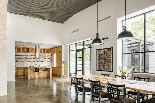 Industrial Dining Room by CONTENT Architecture