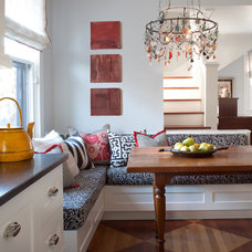 Eclectic Dining Room by company kd, llc.