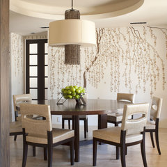 contemporary dining room by D&D Interiors
