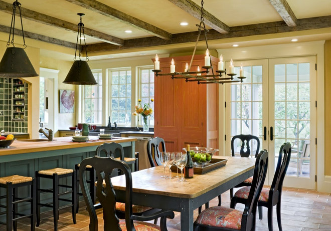 Rustic Dining Room by Smith & Vansant Architects PC