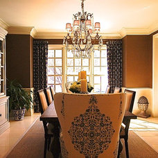 Traditional Dining Room by White T Design