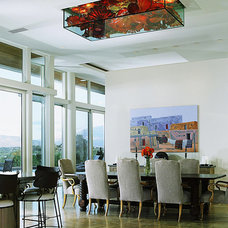 Contemporary Dining Room by Robinette Architects, Inc.