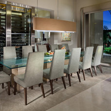 Contemporary Dining Room by Interiors by Cary Vogel
