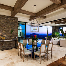 Mediterranean Dining Room by ArchitecTor, PC