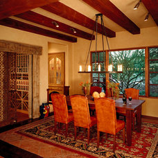 Mediterranean Dining Room by The Phil Nichols Company