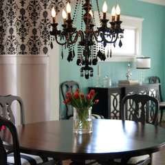 dining room Design & Décor : Black-and-White Decor
