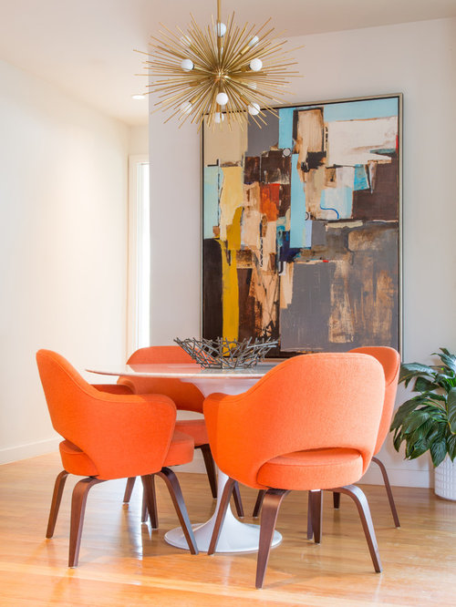 Example Of A Minimalist Dining Room Design In Dallas