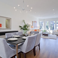 modern dining room by Nicole Garcia Design, Inc.
