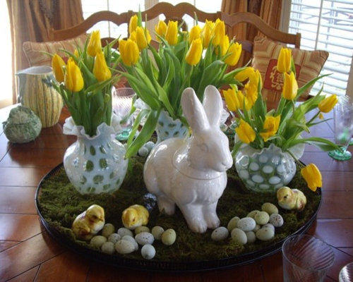 Easter table settings home design ideas pictures remodel for Easter dinner table decorating ideas