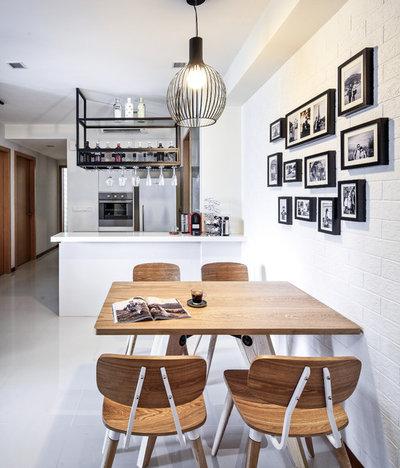 Scandinavian Dining Room by DISTINCTidENTITY Pte Ltd