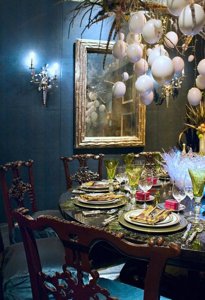 Eclectic Dining Room by Adeeni Design Group