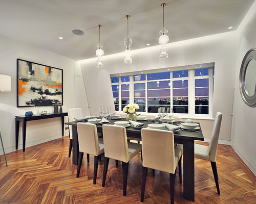 Small contemporary dining room design ideas renovations for Small dining room ideas houzz