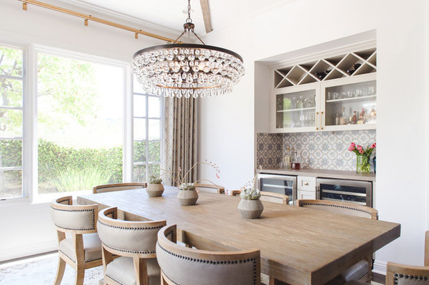 Transitional Dining Room by Savvy Interiors