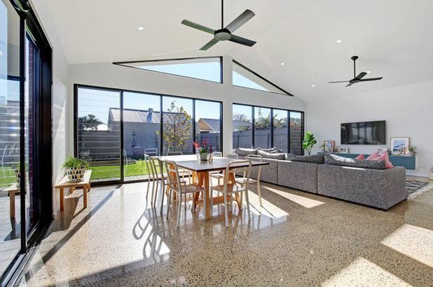 Contemporary Dining Room by JLN Designs
