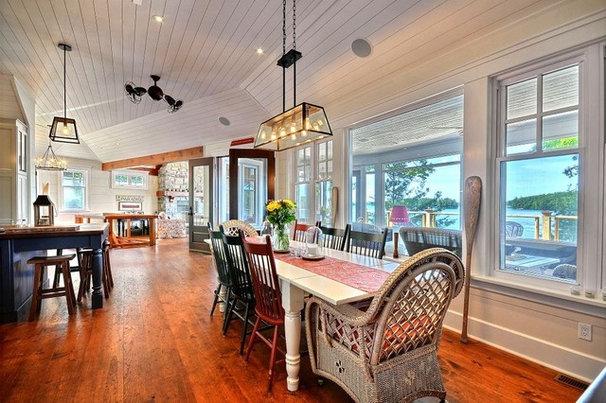 Traditional Dining Room by Clarke Muskoka Construction