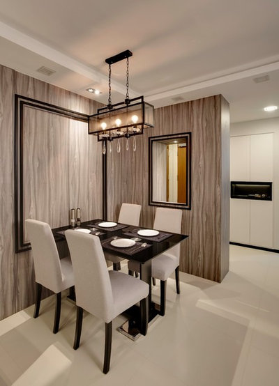 modern dining room by design of schatz