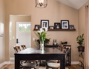 Dining Area in Contemporary Home Remodel