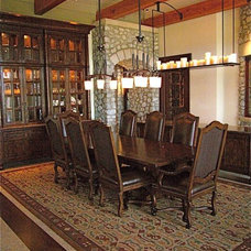 Farmhouse Dining Room by InterDesign Studio